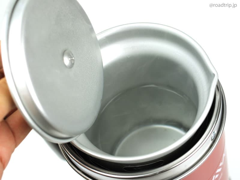 アルポットでお湯を沸かす