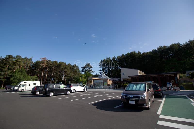 道の駅前の駐車場