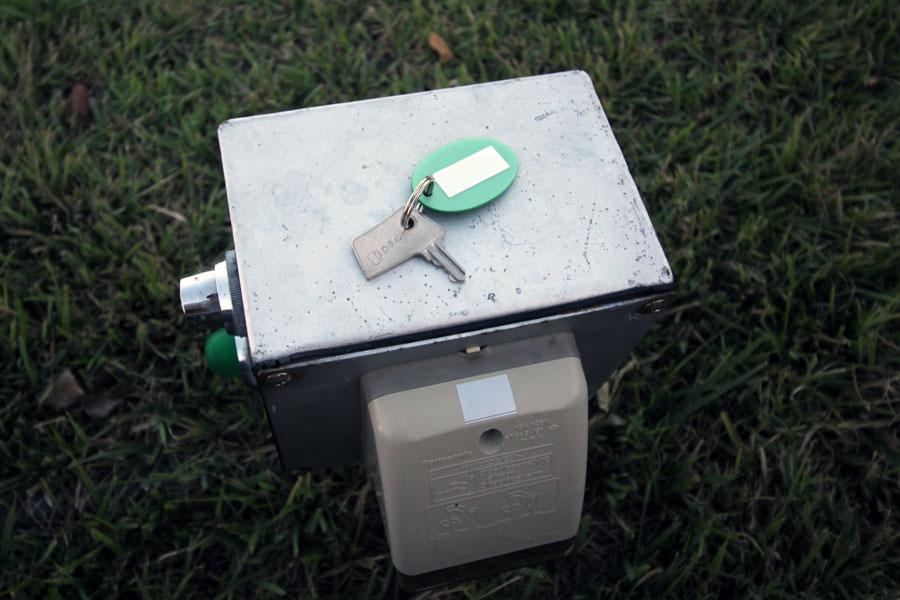 電源ボックスと鍵